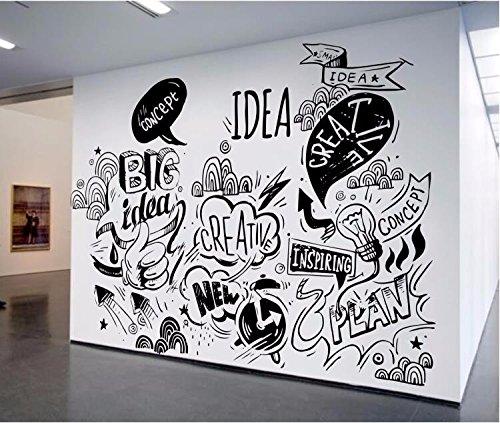 Mural na ścianie w biurze w Warszawie